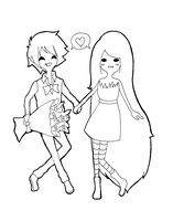 Marshall Lee and Marceline by Chalovesapples