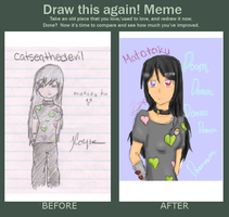 Draw Again Meme by catseathedevil