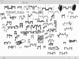 Midwest Music Logo Sketches by expiringsun