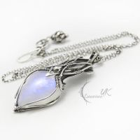 XANTIAEEL - silver and moonstone by LUNARIEEN