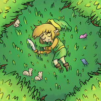 Near the Master Sword by star1796