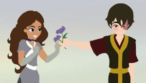 'These are for you.' -Zutara by SarcasticLeaves