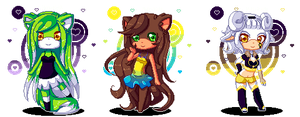 Pixel Cuties by Patti-Katti