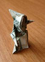 Dollar Bill Origami Grim Reaper by craigfoldsfives