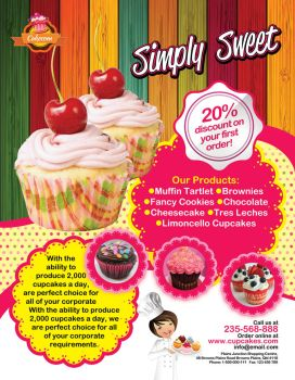 Cup Cake Flyer by inddesigner