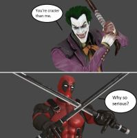 Injustice: The Joker vs Deadpool by xXTrettaXx