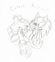 Lineart - Collect Rings by aurorarubye4