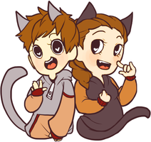 Lunacat And Rabucat by Cappuccino-King