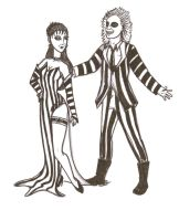 Beetle Juice and Lydia by Coywolfy4God