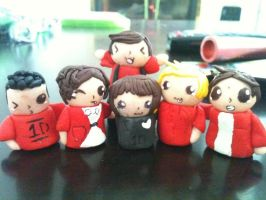 One Direction~Polymer Clay ::Finished:: by Ayleia-The-Kitty