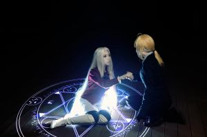 Fate Zero Irisviel and Saber 01 by DeutschGreen