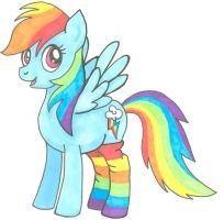 Rainbow Dash in Socks by SandSibilings