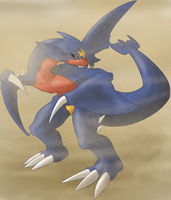 Garchomp used Sandstorm by xIce-Wolf