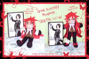 Grell plushie DEATH XD by Akage-no-Hime