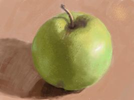 Apple sketch by E-leah