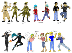 Daze in Culver: Updated Character Designs by JinglesRasco