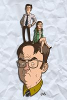 Dwight, Jim and Pam. by stayte-of-the-art