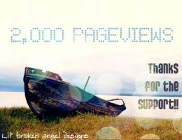 2,000 PAGEVIEWS by lilbrokenangel