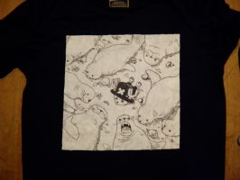 Chopper with Seals T-Shirt. by Zortegus