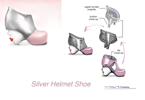 Sketch: Silver Helmet Shoe by renurenu