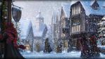 Pottermore Background: Hogsmeade at Christmas by xxtayce