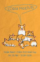 Corgi Meetup Poster by vermilionalice