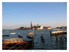 Venice Gondolas by pitchblacknight