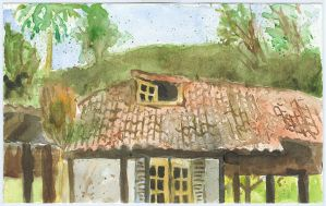 old house tiled roof by tamino