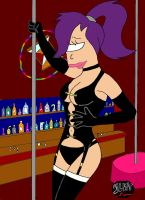fetish dancer leela at a club by SLNTcharlie