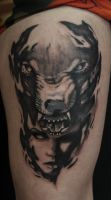 wolf tattoo by AndreySkull