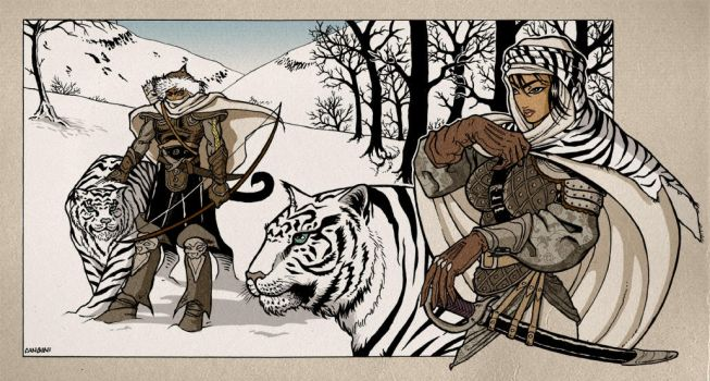 White Tigers by ClaudiaCangini