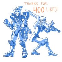 Link and Samus by mscorley