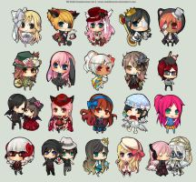 TM Chibi Commissions Set 3 by chuwenjie