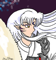 Sesshomaru Headshot by bluebellangel19smj