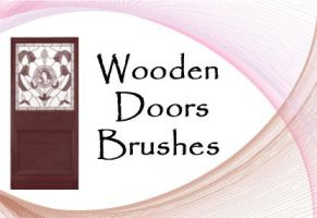 Wooden Doors PS Brushes by fiftyfivepixels