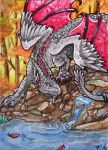 little leaves- ACEO by rohirrimshadow