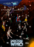 50 years of Doctor Who by who-fan96