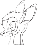 Bambi - free lineart by LittlePuffin