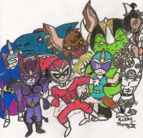Viewtiful Joe and Co. by SlySonic