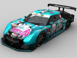 Top Secret Miku GT-R SGT500 by shanaxtaiga