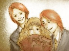 fred - hermione - george by alizarin