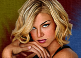 Smudge painting of Adrianne Palicki by Viktoria-Lyn