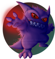 Pokemon - Gengar by ZaidaCrescent