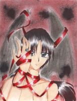 Kashuu and the ribbons by Mew-Sumomo