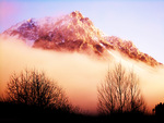 Morning-Red-Mountain by YaensArt