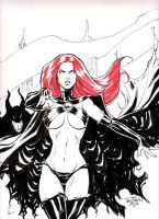 Madelyne Pryor Goblin Queen by culdecheval