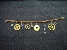 Steampunk Charm Bracelet 1 by KatarinaNavane