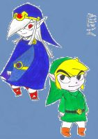 Toon Link and Vaati by SuperMattyBros