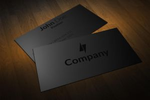 Clean Black on Black Business Cards Design by BorceMarkoski