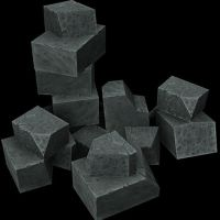 Low poly Stone block asset. by Jimpaw